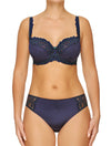 Lauma, Blue Underwired Soft-cup Lace  Bra, On Model Front, 04H20