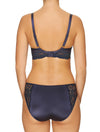 Lauma, Blue Underwired Soft-cup Lace  Bra, On Model Back, 04H20