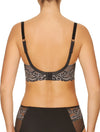 Lauma, Black Half-padded Lace Bra, On Model Back, 04H40