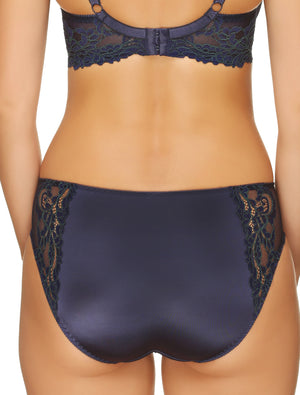Lauma, Blue Mid Waist Panties, On Model Back, 04H50