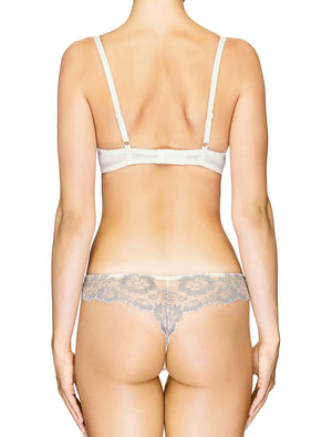Lauma, Ivory Plunge Push-up Bra, On Model Back, 04J10