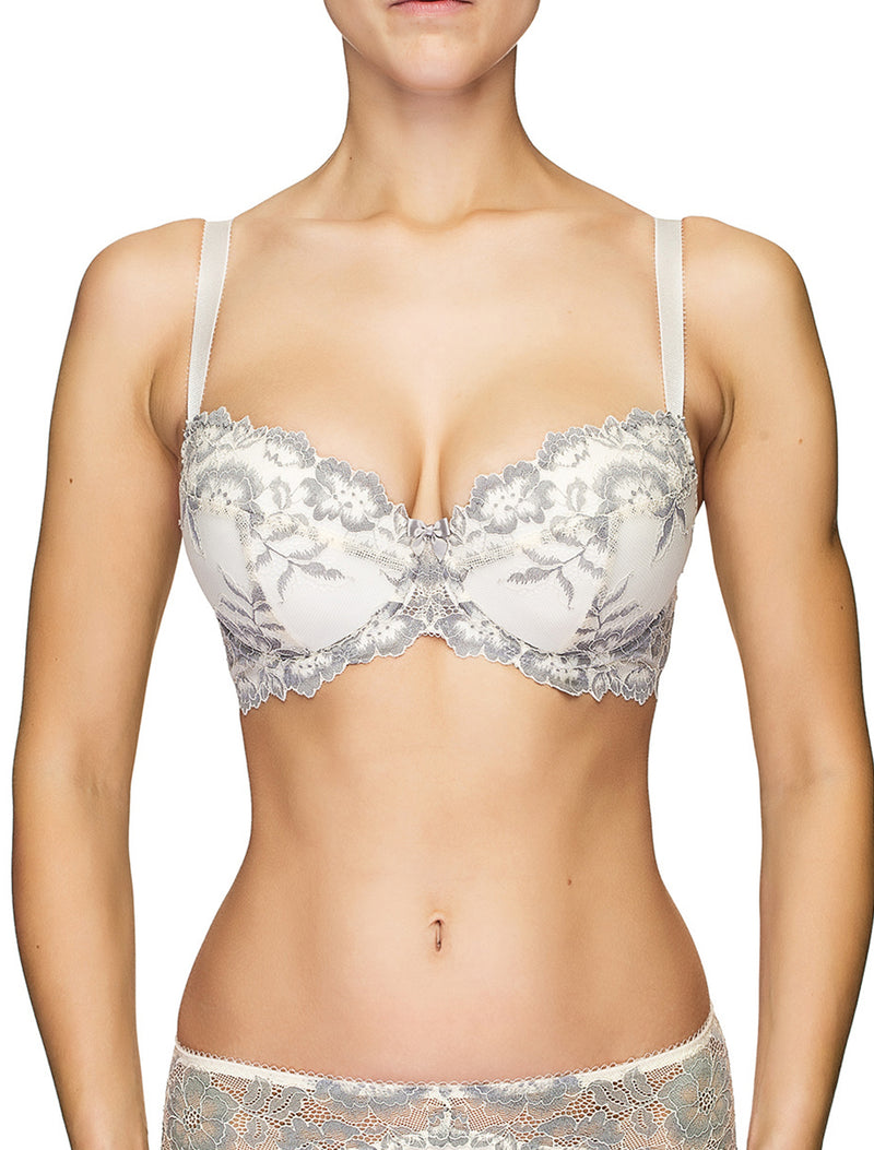 Lauma, Ivory Lace Push-up Bra, On Model Back, 04J16