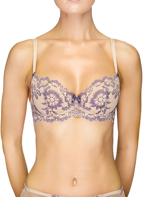 Lauma, Nude Non-padded Lace Balconette Bra, On Model Front, 04J22