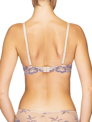 Lauma, Nude Non-padded Lace Balconette Bra, On Model Back, 04J22
