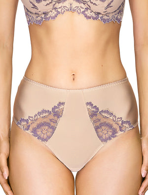 Lauma, Nude High Waist Panties, On Model Front, 04J51