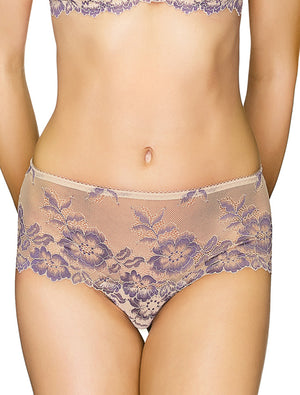 Lauma, Nude Lace Shorts Panties, On Model Front, 04J70