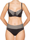 Lauma, Black Swimwear Bikini Top, On Model Front, 06G20