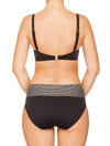 Lauma, Black Swimwear Bikini Top, On Model Back, 06G20