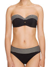 Lauma, Black Bandeau Bikini Top, On Model Front, 06G31
