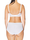 Lauma, White Underwired Non-padded Bra, On Model Back, 08C20