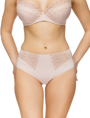 Lauma, Nude High Waist Panties, On Model Front, 08C51