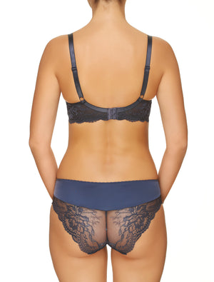 Lauma, Blue Mid Waist Briefs, On Model Back, 08H50
