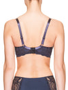 Lauma, Blue Half Padded Bra, On Model Back, 08H40