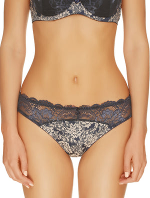Lauma, Blue Mid Waist String Tanga, On Model Front, 08H60