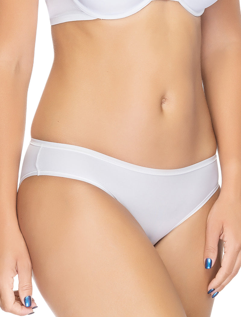 Lauma, White Micro Low Waist Panties, On Model Front, 10B57