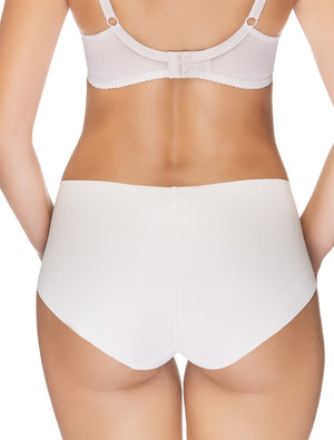 Lauma, Nude Seamless Mid Waist Panties, On Model Back, 14B50