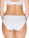Lauma, White Mid Waist Cotton Panties, On Model Back, 15B56