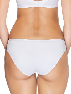 Lauma, White Low Waist Panties, On Model Back, 15B59