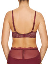 Lauma, Dark Red Underwired Soft-cup Lace Bra, On Model Back, 16H20