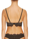 Lauma, Black Lace Push Up Bra, On Model Back, 16H35
