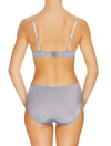 Lauma, Grey Mid Waist Panties, On Model Back, 17H52