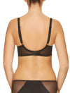Lauma, Black Underwired Padded Bra, On Model Back, 17H40