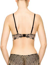 Lauma, Black  Lace Moulded Push-Up Bra, On Model Back, 17J35