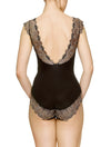 Lauma, Black Bodysuit, On Model Back, 17J80