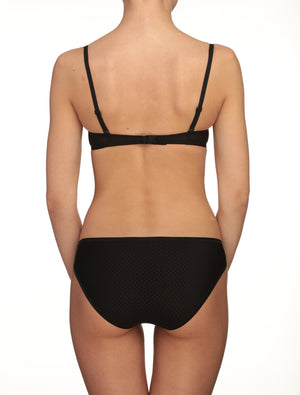 Lauma, Black Mid Waist Panties, On Model Back, 20F50