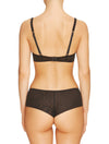 Lauma, Black Plunge Push Up Lace Bra, On Model Back, 20H10