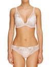 Lauma, Nude Plunge Moulded Push Up Lace Bra, On Model Front, 20H35