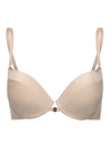 Lauma, Nude Clear Back Push Up Bra, On Model Front, 22F36