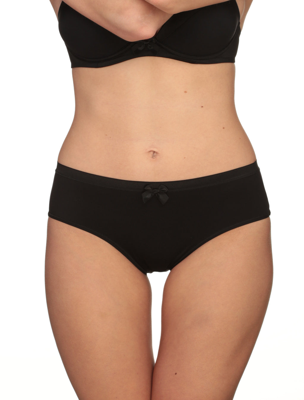 Lauma, Black High Waist Panties, On Model Front, 22F51