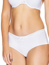 Lauma, White Mid Waist Shorts, On Model Front, 22F70
