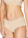 Lauma, Nude Mid Waist Shorts, On Model Front, 22F70