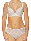 Lauma, Ivory Underwired Half-padded Bra, On Model Front, 23H40