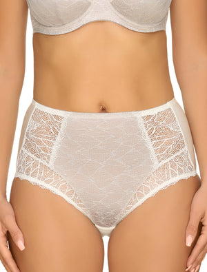 Lauma, Nude High Waist Panties, On Model Front, 23H51