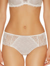 Lauma, Ivory Mid Waist Lace Shorts Panties, On Model Front, 23H70