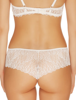 Lauma, Ivory Mid Waist Lace Shorts Panties, On Model Back, 23H70