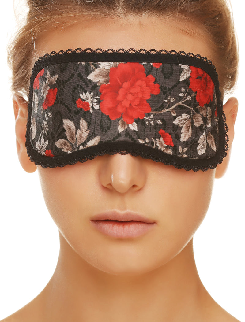 Lauma, Grey Sleeping Mask, On Model Front, 27H00