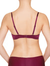 Lauma, Burgundy Push Up Bra, On Model Back, 29H10