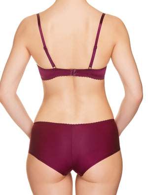 Lauma, Burgundy Push Up Bra, On Model Back 29H10