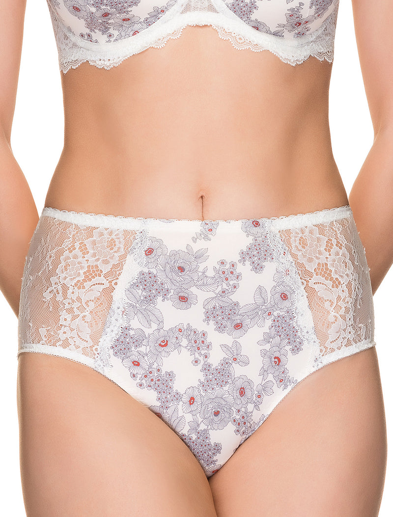 Lauma, Ivory High Waist Panties, On Model Front, 30H51