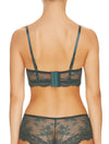 Lauma, Green Push Up Bustier Bra, On Model Back, 31H11
