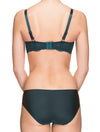 Lauma, Green Half Padded Bra, On Model Back, 31H40