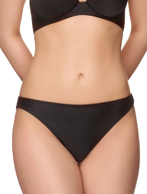 Lauma, Black Swimwear Bikini Bottom, On Model Front, 32F50