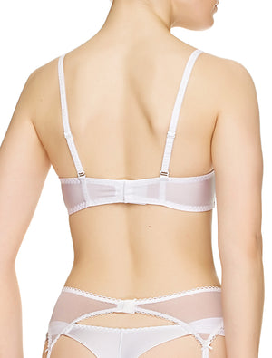 Lauma, White Balconette Bra, On Model Back, 34J30