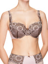 Lauma, Brown Half-padded Bra, On Model Front, 35H40