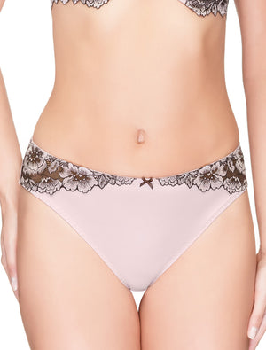 Lauma, Pink Mid Waist Panties, On Model Front, 35H52