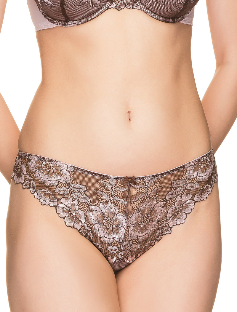 Mallow Flower Lace Brazilian Panties